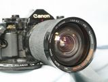 Canon A-1 Pro 35mm SLR Camera c/w 28-200mm Zoom Macro Lens - Tested-Ni...